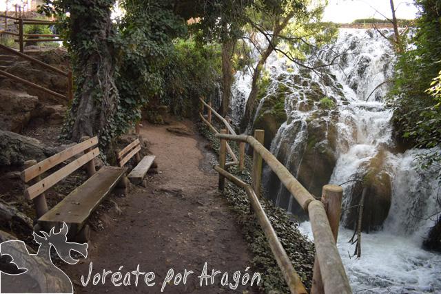 Salto de La Paradera, perteneciente a la Ruta del Agua situada en las inmediaciones de Ibdes.