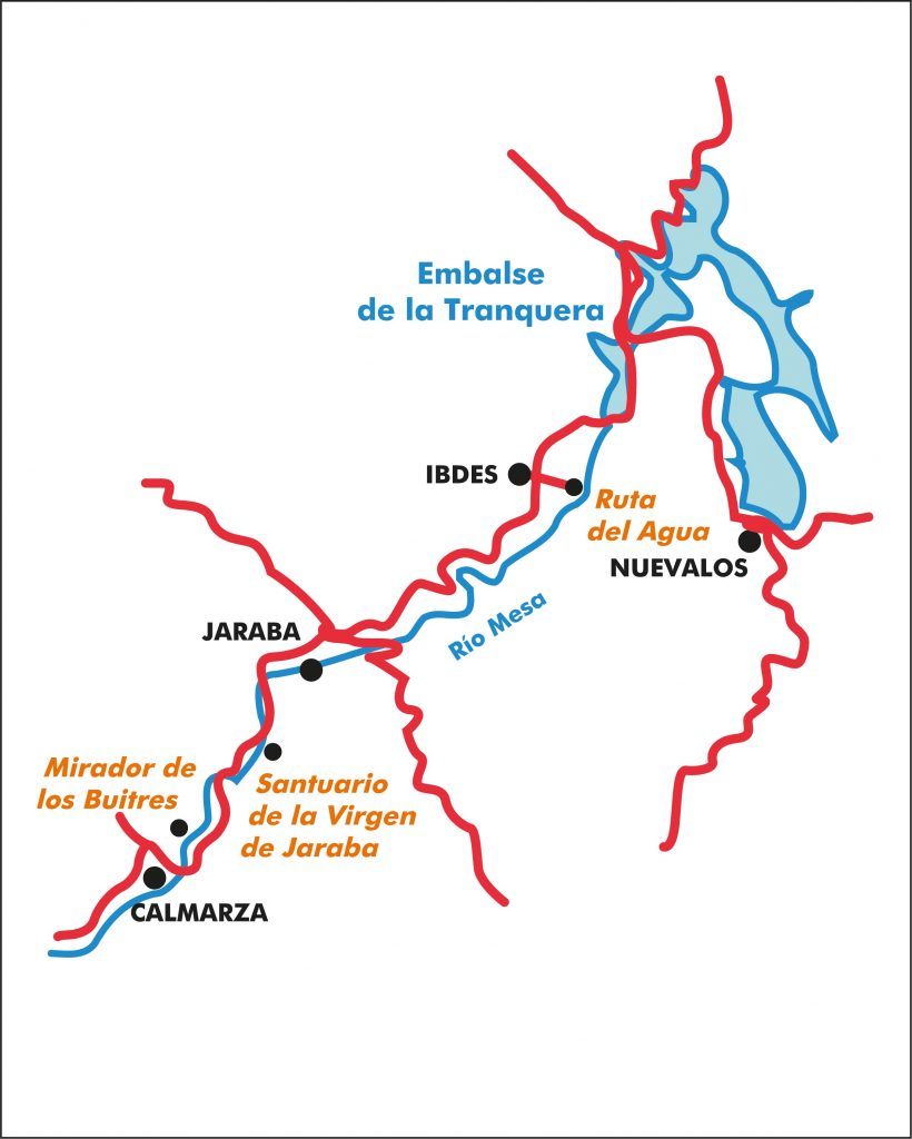 Mapa de la propuesta Valle del Mesa.